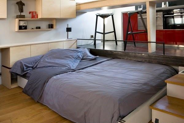 ทำไมถึงออกแบบห้องเล็กขนาดนี้ เพราะคนที่เข้ามาอยู่ในปารีสส่วนใหญ่พบกับปัญหาอพาร์เมนต์ที่เล็กเกินจะอยู่ศัยได้ สองสถาปนิก Julie Nabucet และ Marc Baillargeon จึงได้ออกแบบให้ห้องนี้ใช้พื้นที่ให้เกิดประโยชน์มากที่สุด