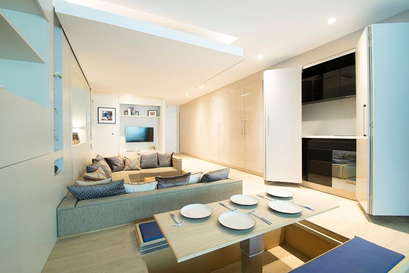 เปลี่ยนอพาร์ทเมนท์ขนาดเล็กให้กลายเป็นพื้นที่บ้าน