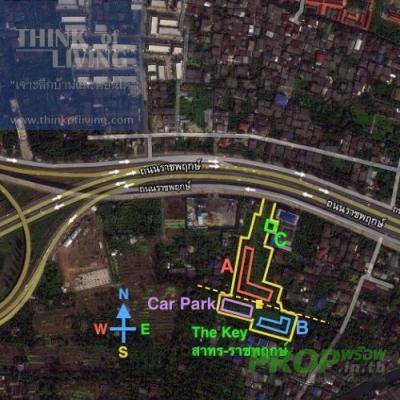 คอนโด ขายดาวน์คอนโด The Key สาทร-ราชพฤกษ์ (1ห้องนอน) BTSสถานี วุฒากาศ ตึกA ชั้นที่ 20 ตำแหน่ง14