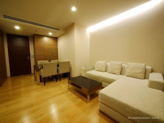 ขายคอนโด The Address Asoke ขนาด 2 ห้องนอน 65 ตรม. ชั้น 30  View เมืองสวยมาก