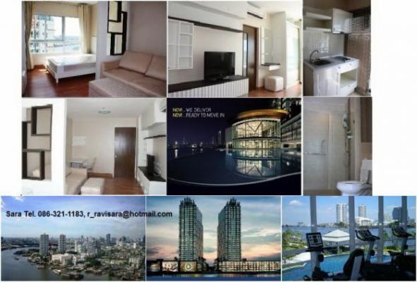 ++++Rent Ivy River condo@Ratchaburana (Jareannakhon Rd.)++++ ให้เช่า Studio 30 ตรม.ห้องสวย เห็นแม่น้ำ มีทีวี ตู้เย็น ไมโครเวฟ ราคา  9,500 ฿ สนใจติดต่อ Sara T.086-321-1183,082-6414199