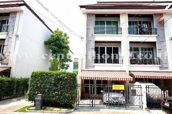 ขายทาวน์โฮม 3 ชั้น 33 ตารางวา บ้านกลางเมือง รัชดา 36 หัวมุม ต่อเติมสวย พร้อมเฟอร์