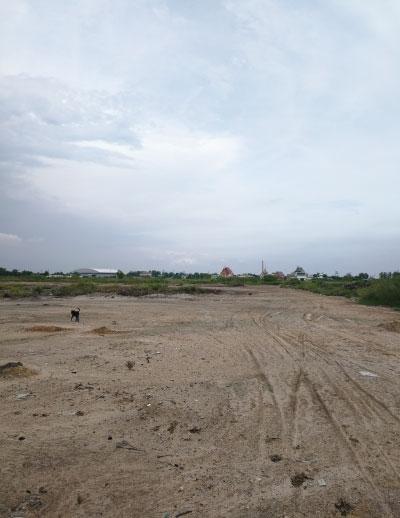 ที่ดินสร้างโรงงาน-โกดัง 50 ไร่ แบ่งขายได้ ถนนพระราม2 กม.14 จ.สมุทรสาคร