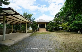 Modern house with a large garden in mae rim chiangmai.